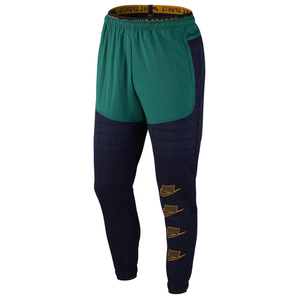 ナイキ Nike メンズ フィットネス・トレーニング ボトムス・パンツ【Therma Fleece PX Pants】Blackened Blue/Mystic Green/Kumquat Sport Clash