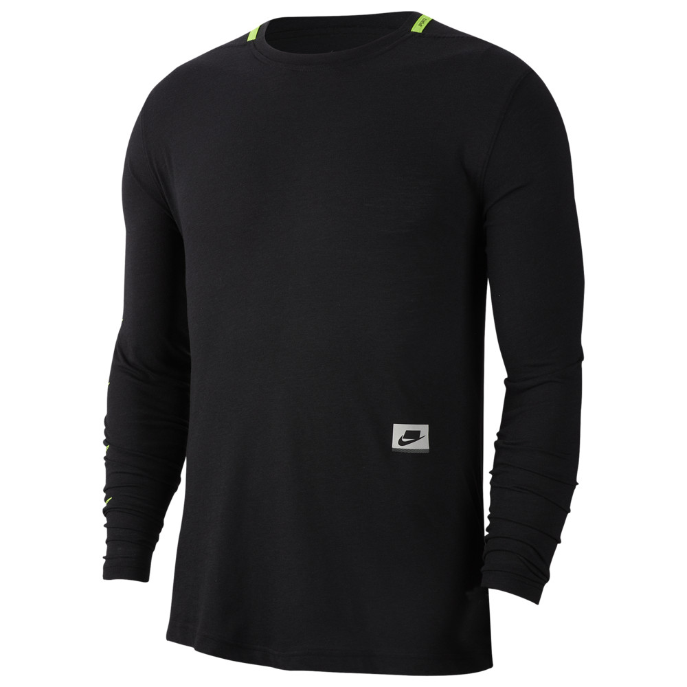 ナイキ Nike メンズ フィットネス・トレーニング トップス【Dry PX Longsleeve Top】Black/Habenero Red/Scream Green Sport Clash
