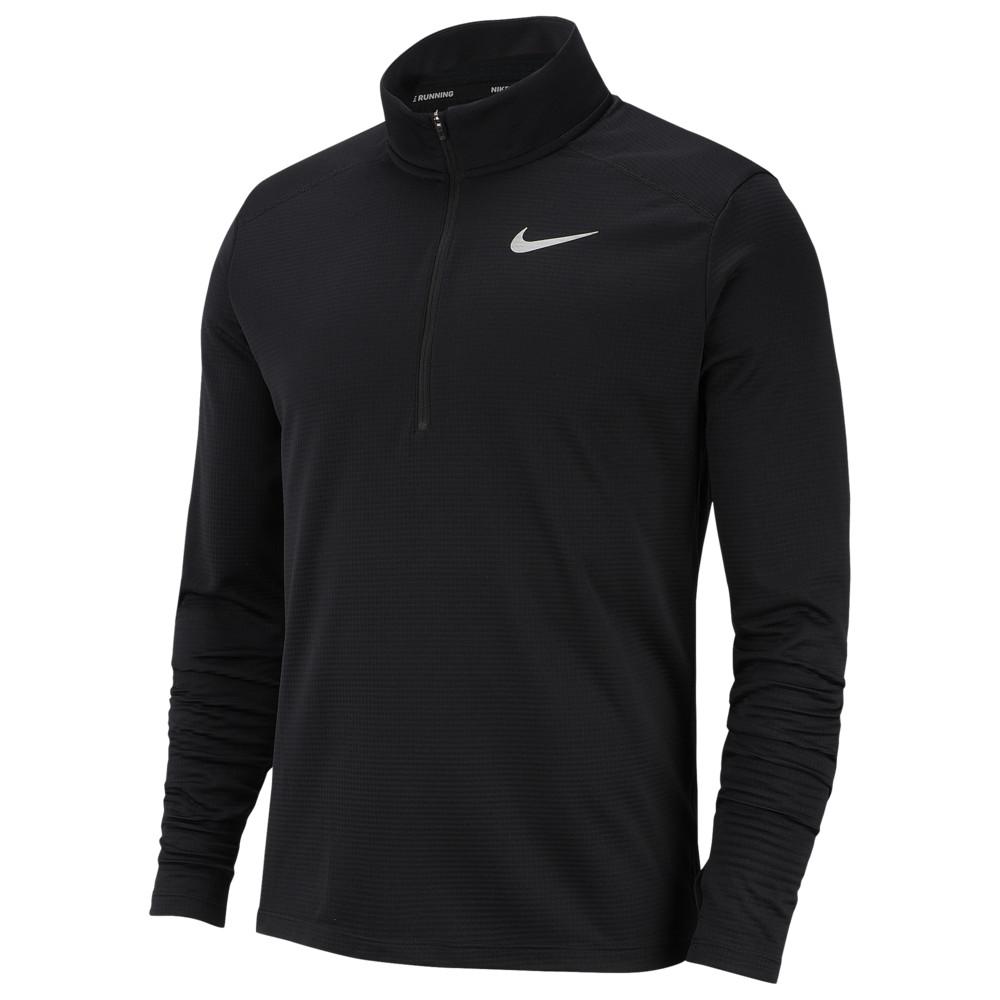 ナイキ Nike メンズ ランニング・ウォーキング ハーフジップ トップス【Pacer 1/2 Zip Top】Black/Black/Reflective Silver