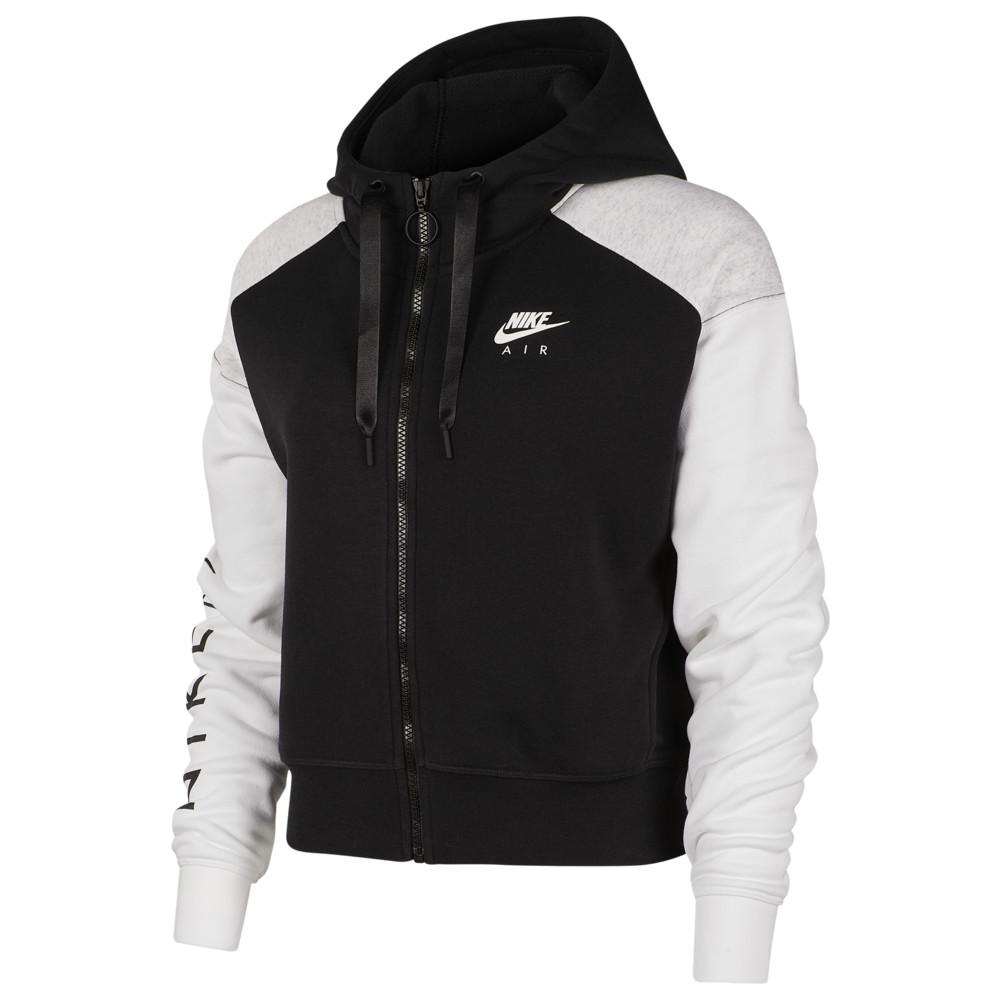 ナイキ Nike レディース フリース トップス【Air Fleece Full-Zip Hoodie】Black/Birch Heather/White