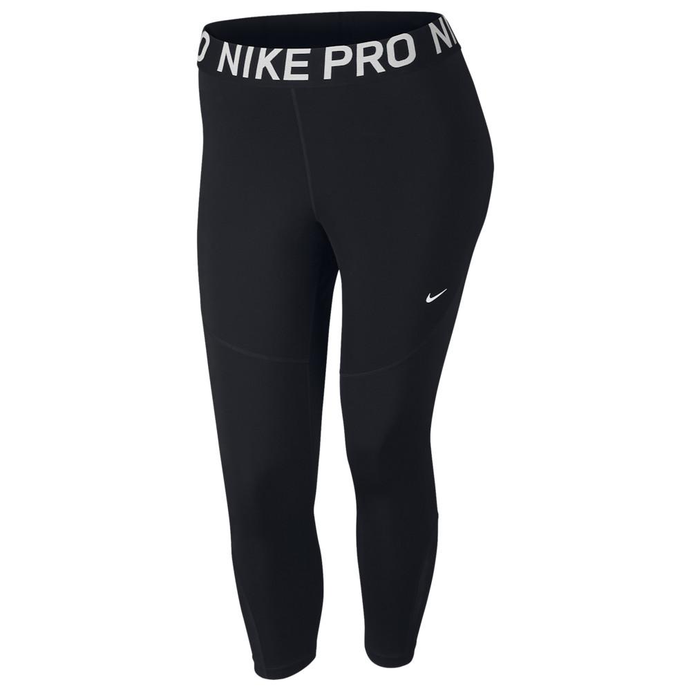 ナイキ Nike レディース フィットネス・トレーニング 大きいサイズ スパッツ・レギンス ボトムス・パンツ【Pro Plus Size Crop Tights】Black