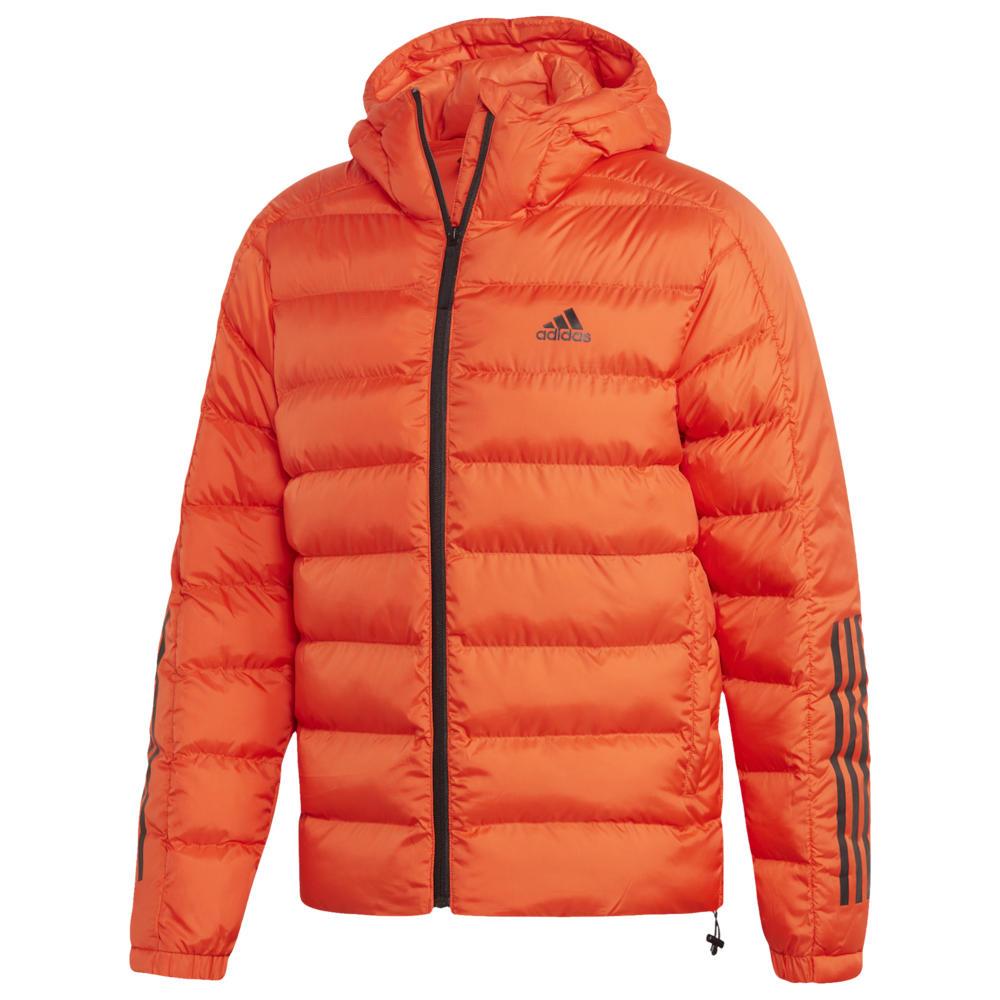 アディダス adidas Athletics メンズ ダウン・中綿ジャケット フード アウター【Itavic 3 Stripe 2.0 Hooded Jacket】Active Orange