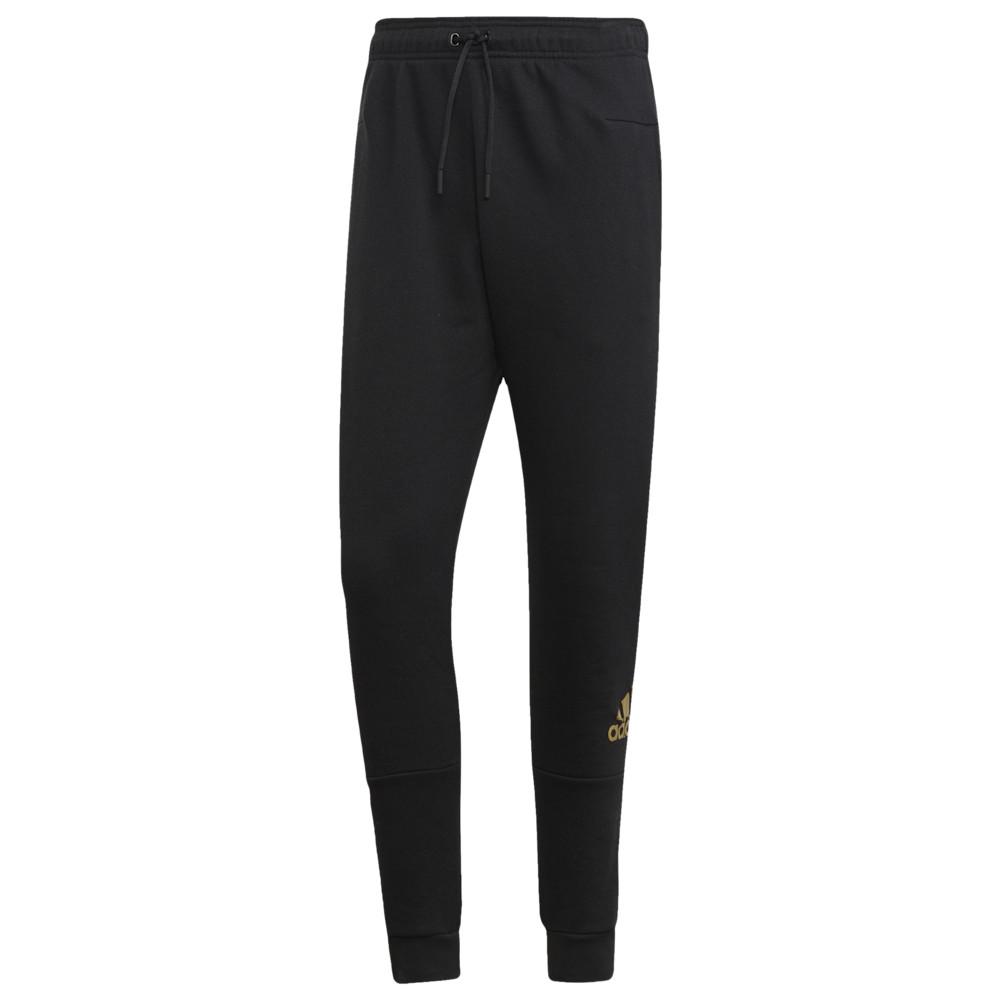 アディダス adidas メンズ ジョガーパンツ ボトムス・パンツ【Athletics Sport ID Metallic Jogger】Black/Metallic Gold