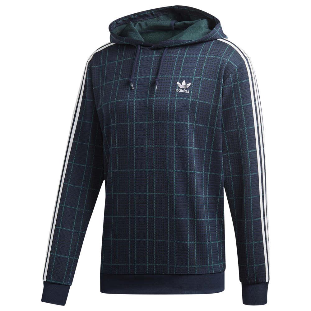 アディダス adidas Originals メンズ パーカー トップス【Tartan Hoodie】Collegiate Navy