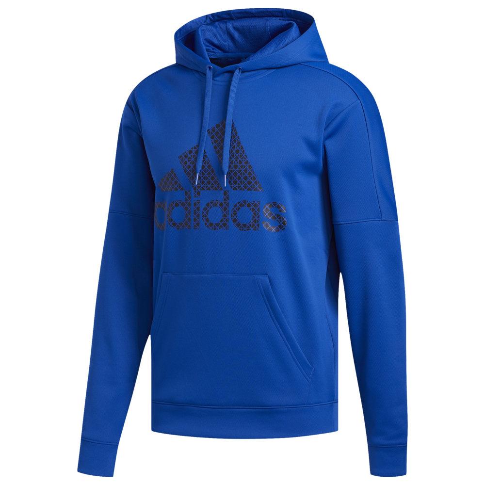 アディダス adidas メンズ フィットネス・トレーニング パーカー トップス【Badge of Sport Team Issue Pullover Hoodie】College Royal/Black