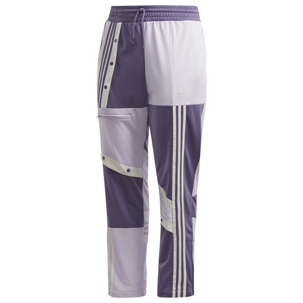 アディダス adidas Originals レディース スウェット・ジャージ 大きいサイズ ボトムス・パンツ【Plus Size D.Cathari Track Pant】Purple