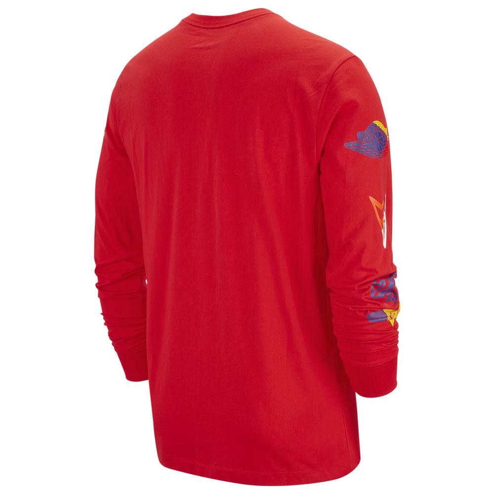 ナイキ ジョーダン Jordan メンズ 長袖Tシャツ トップス【Sport DNA HBR Long Sleeve Crew T-Shirt】University Red