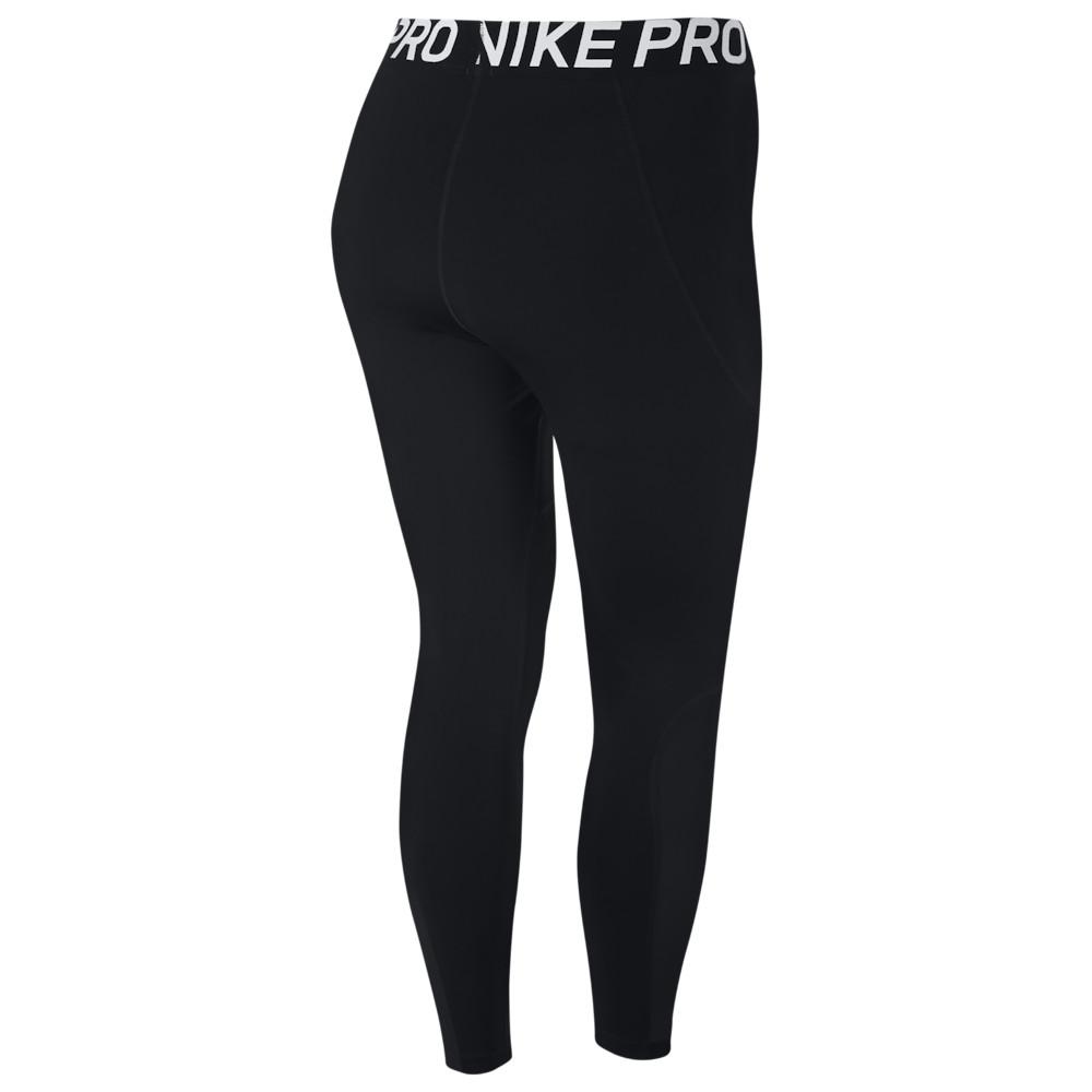 ナイキ Nike レディース フィットネス・トレーニング 大きいサイズ スパッツ・レギンス ボトムス・パンツ【Pro Tights Plus Size】Black/White