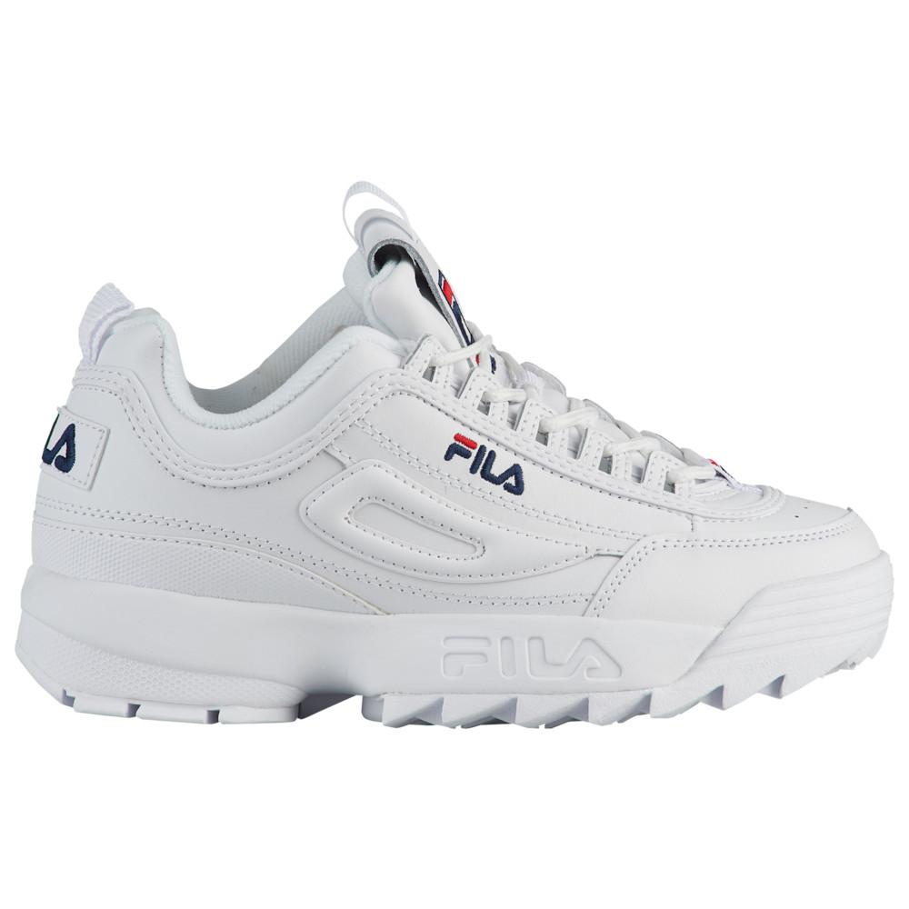 フィラ Fila レディース フィットネス・トレーニング シューズ・靴【Disruptor II Premium】White/Navy/Red