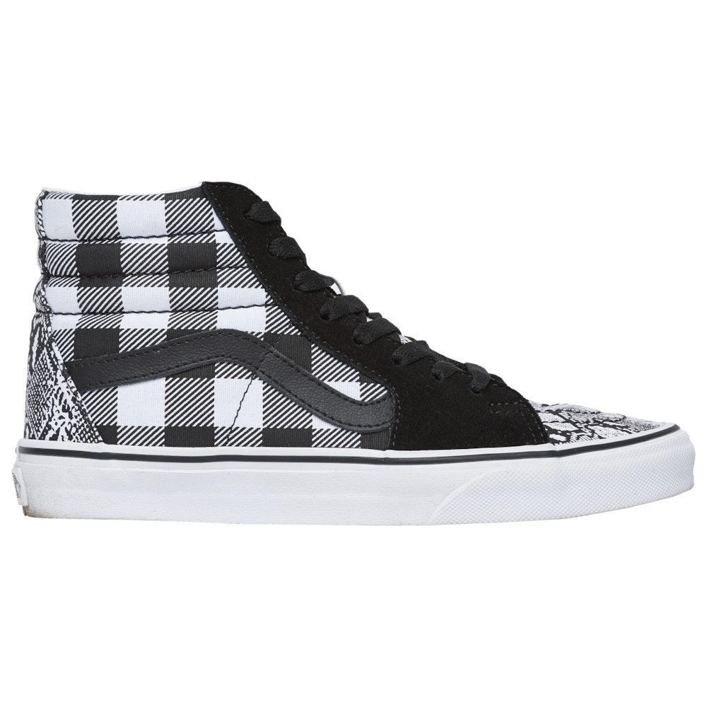 ヴァンズ Vans レディース スケートボード シューズ・靴【SK8-Hi】White/Black/Snake