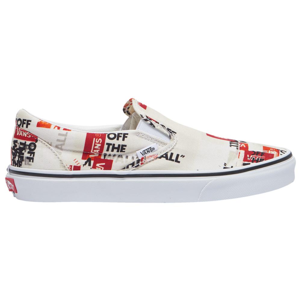 ヴァンズ Vans メンズ スケートボード スリッポン シューズ・靴【Classic Slip On】Blanc De Blanc/True White