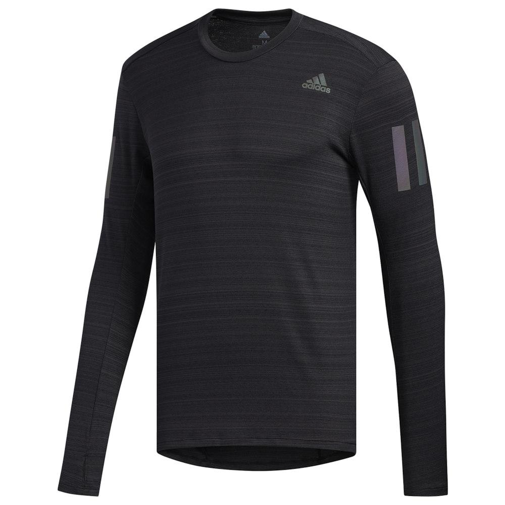 アディダス adidas メンズ ランニング・ウォーキング 長袖Tシャツ トップス【Rise Up N Run Long Sleeve Tee】Black