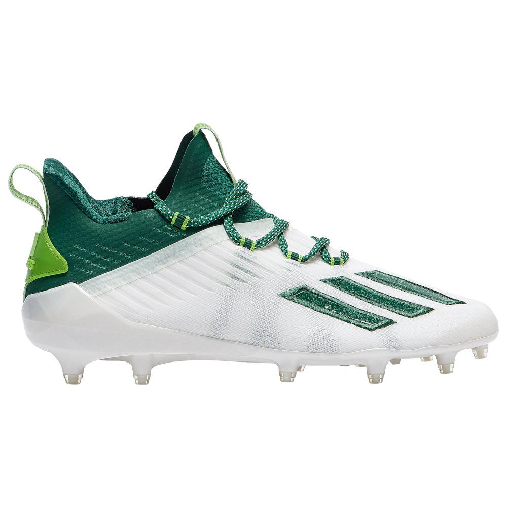 アディダス adidas メンズ アメリカンフットボール シューズ・靴【adiZero】White/Dark Green/Semi Solar Green