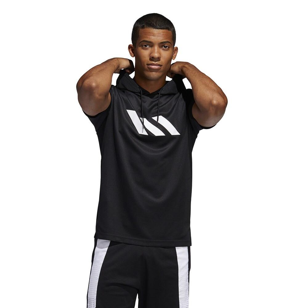 アディダス adidas メンズ バスケットボール パーカー トップス【S/S Hoodie】Black