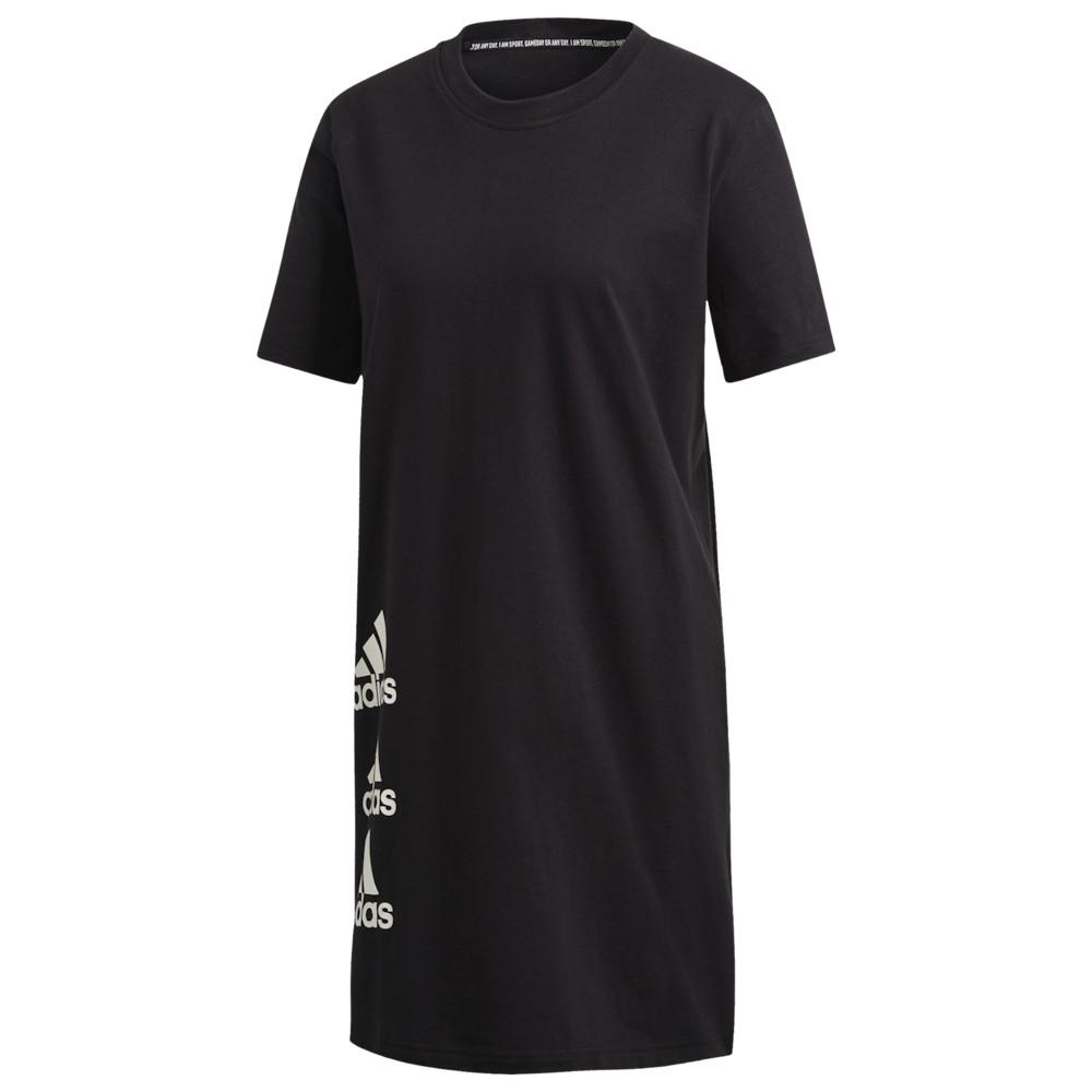 アディダス adidas Athletics レディース ワンピース ワンピース・ドレス【Stack Tee Dress】Black/White