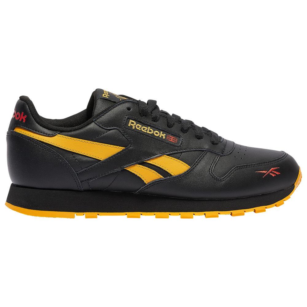 リーボック Reebok メンズ ランニング・ウォーキング シューズ・靴【Classic Leather】Black/Fierce Gold/Radiant Red