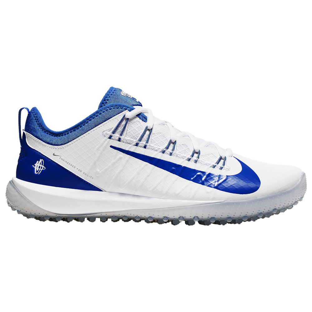 ナイキ Nike メンズ ラクロス シューズ・靴【Alpha Huarache 7 Pro Turf LAX】White/Game Royal