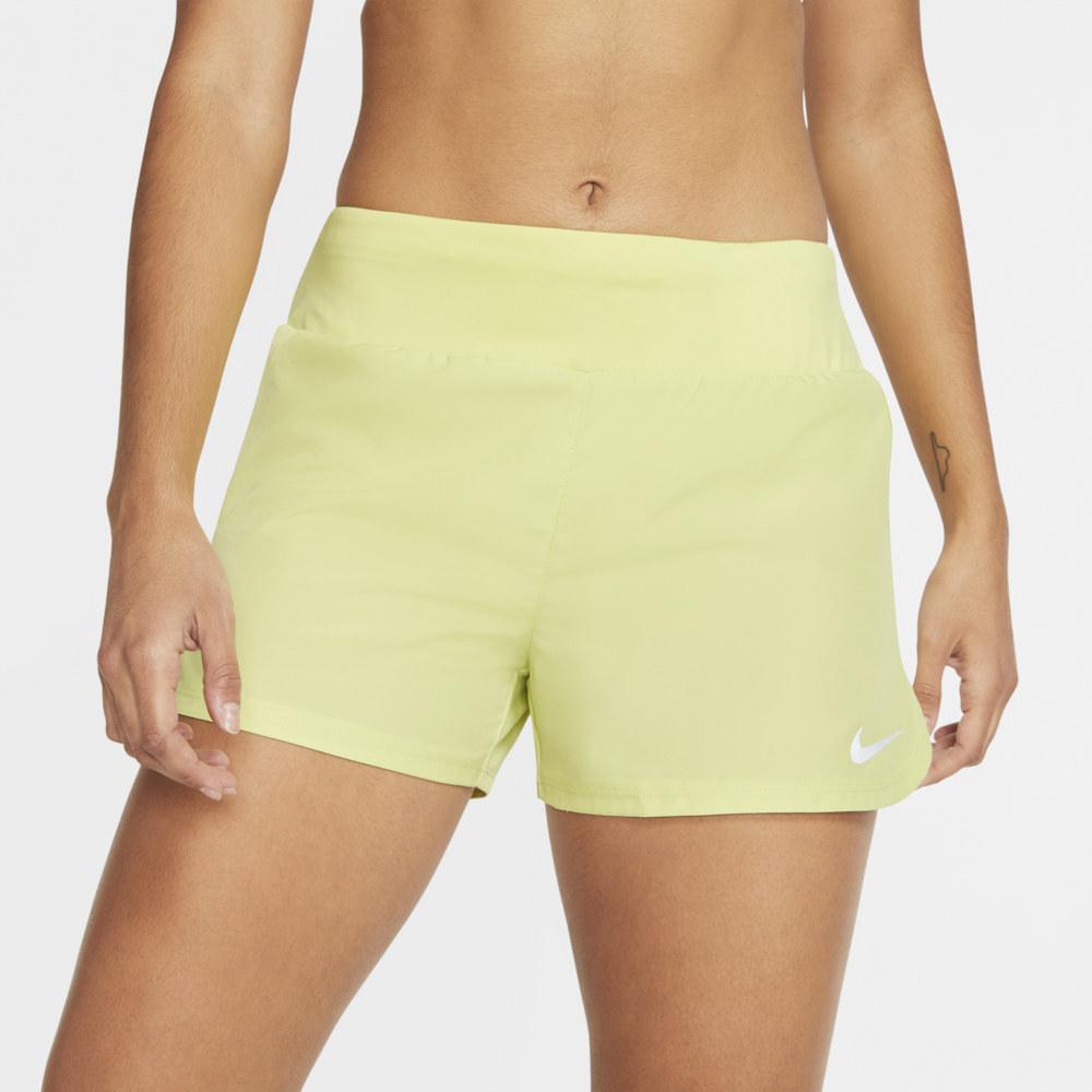 ナイキ Nike レディース フィットネス・トレーニング ショートパンツ ボトムス・パンツ【Crew Shorts】Limelight/Reflective Silver
