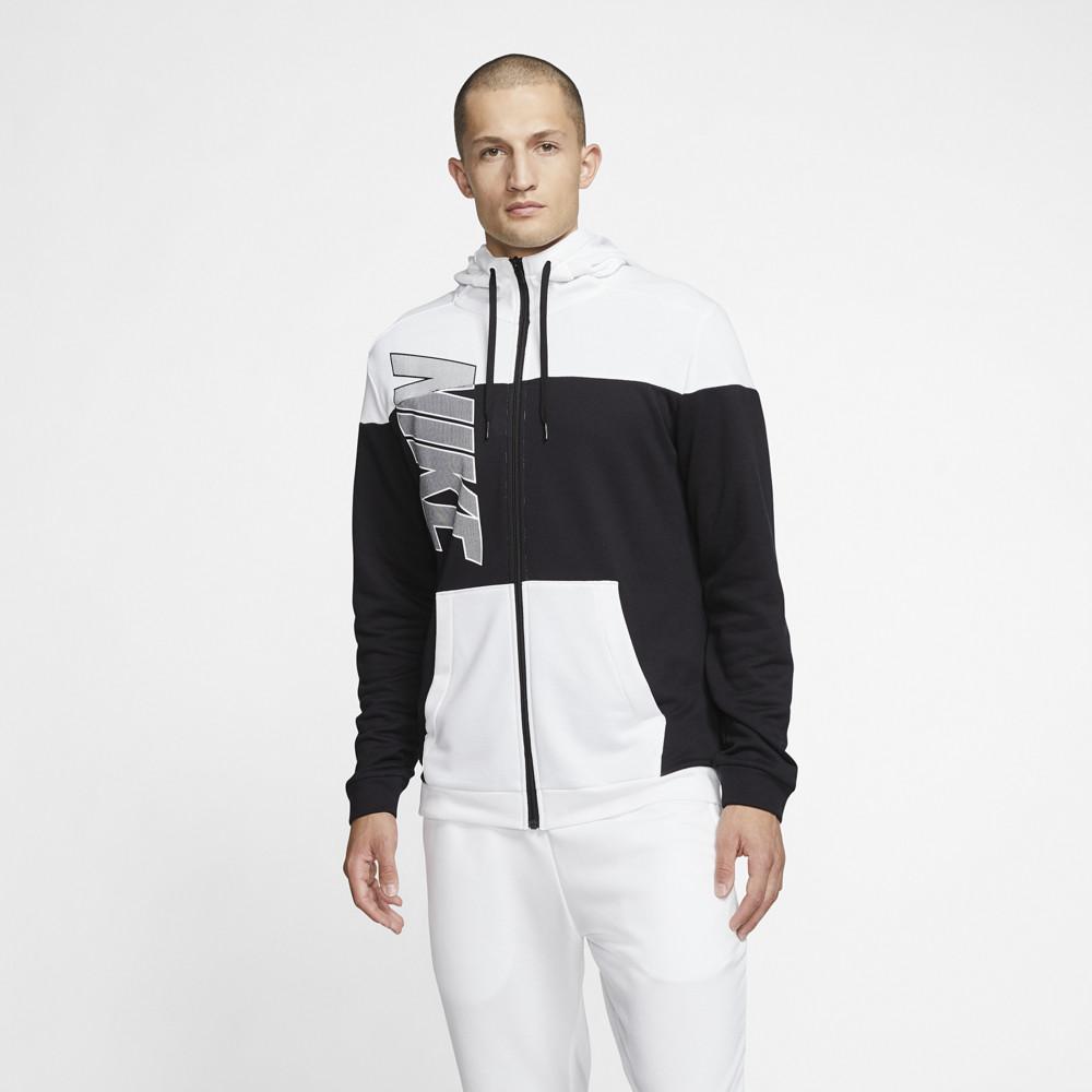 ナイキ Nike メンズ フィットネス・トレーニング パーカー トップス【Dry Fleece Full-Zip Hoodie】Black/White/Black