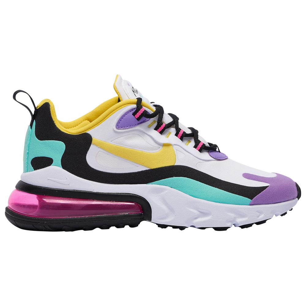 ナイキ Nike メンズ ランニング・ウォーキング シューズ・靴【Air Max 270 React】White/Dynamic Yellow/Black/Bright Violet