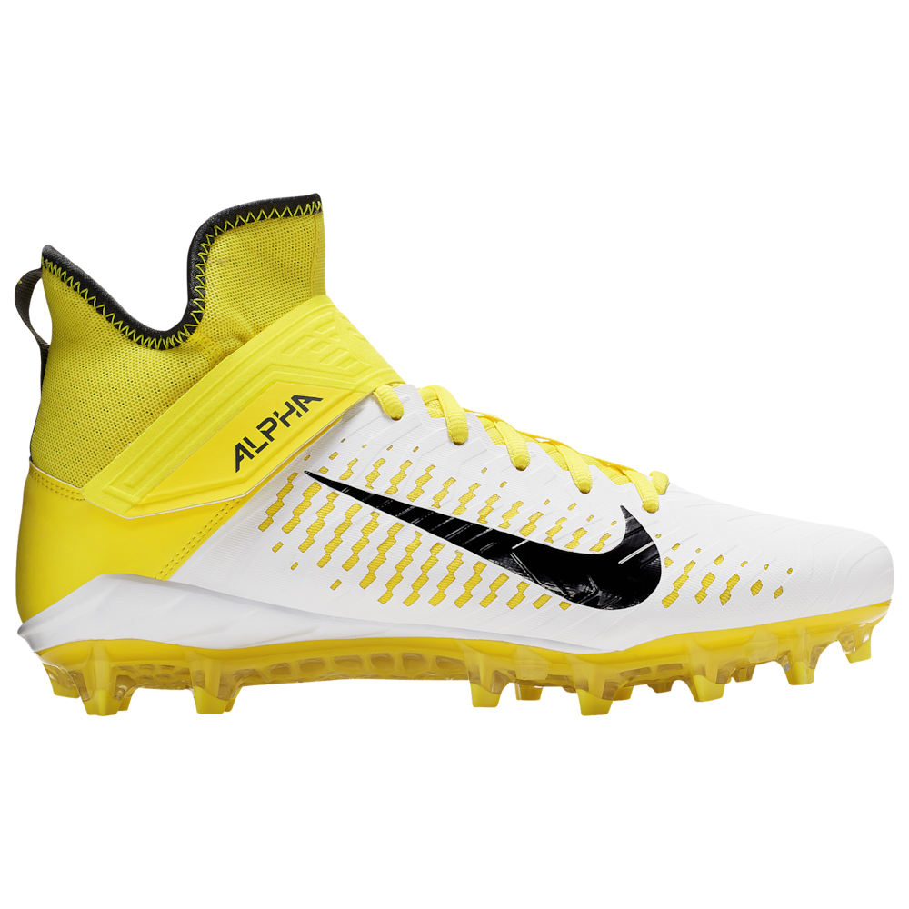 ナイキ Nike メンズ アメリカンフットボール シューズ・靴【Alpha Menace Pro 2 MID】White/Black/Yellow