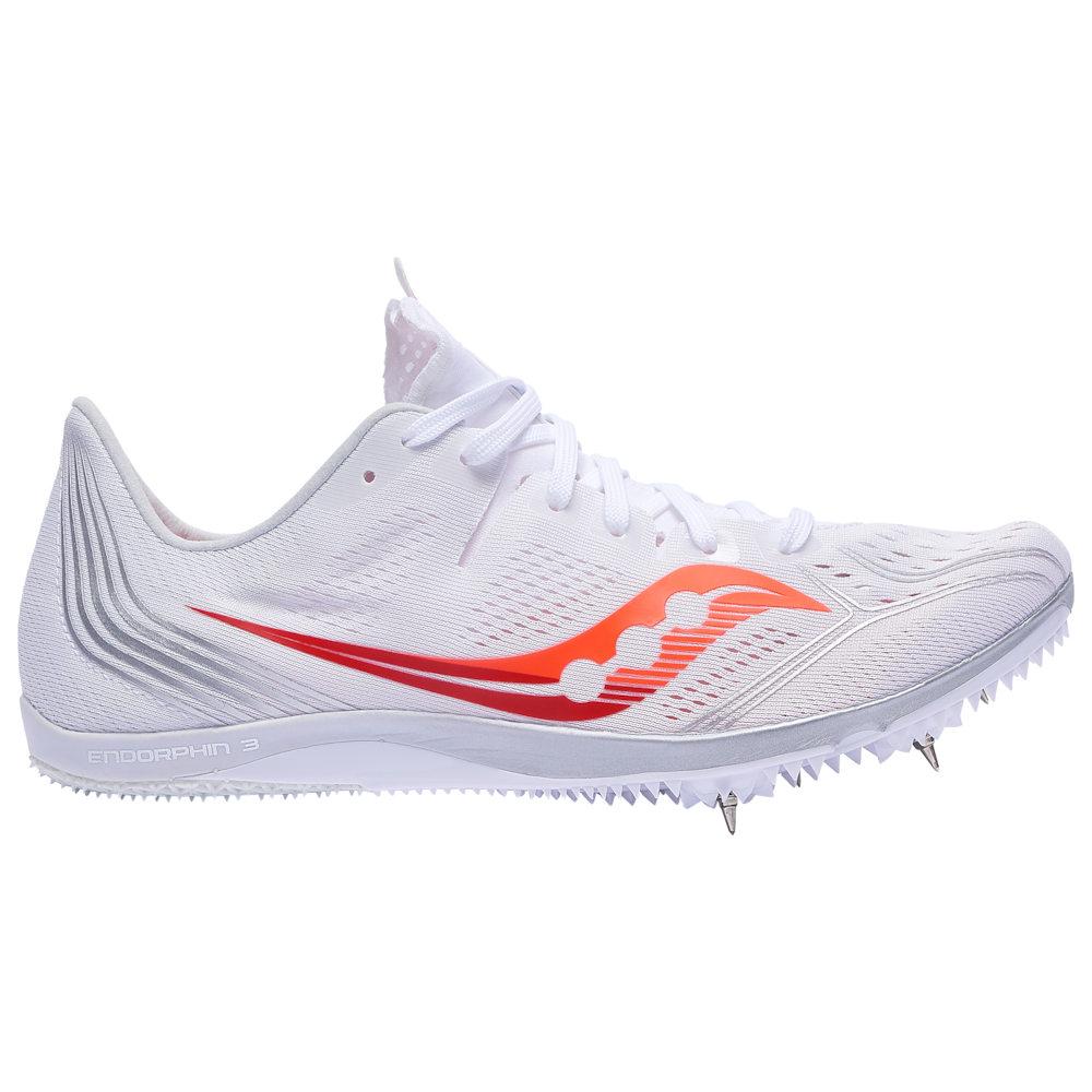 サッカニー Saucony レディース 陸上 シューズ・靴【Endorphin 3】White/Vizi Red