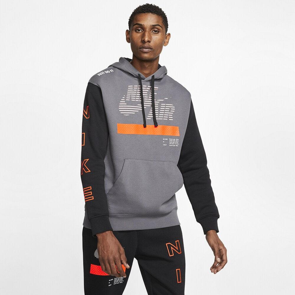 ナイキ Nike メンズ パーカー トップス【Under Construction Club Hoodie】Dark Grey/Black