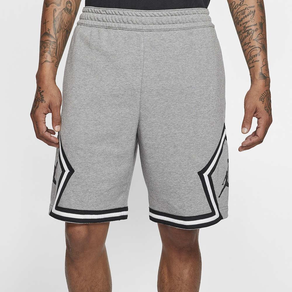ナイキ ジョーダン Jordan メンズ バスケットボール ショートパンツ ボトムス・パンツ【Jumpman Fleece Diamond Shorts】Carbon Heather/White