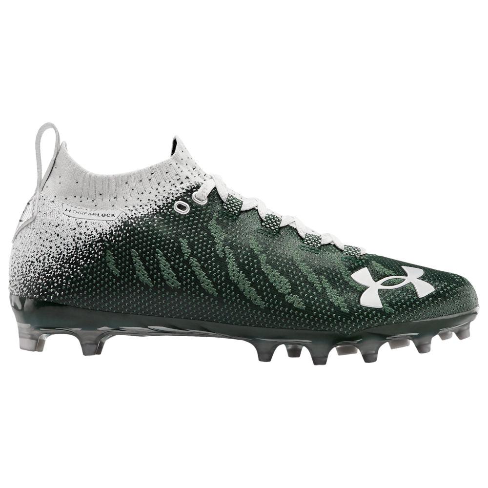 アンダーアーマー Under Armour メンズ アメリカンフットボール シューズ・靴【Spotlight LUX MC】Forest Green/White