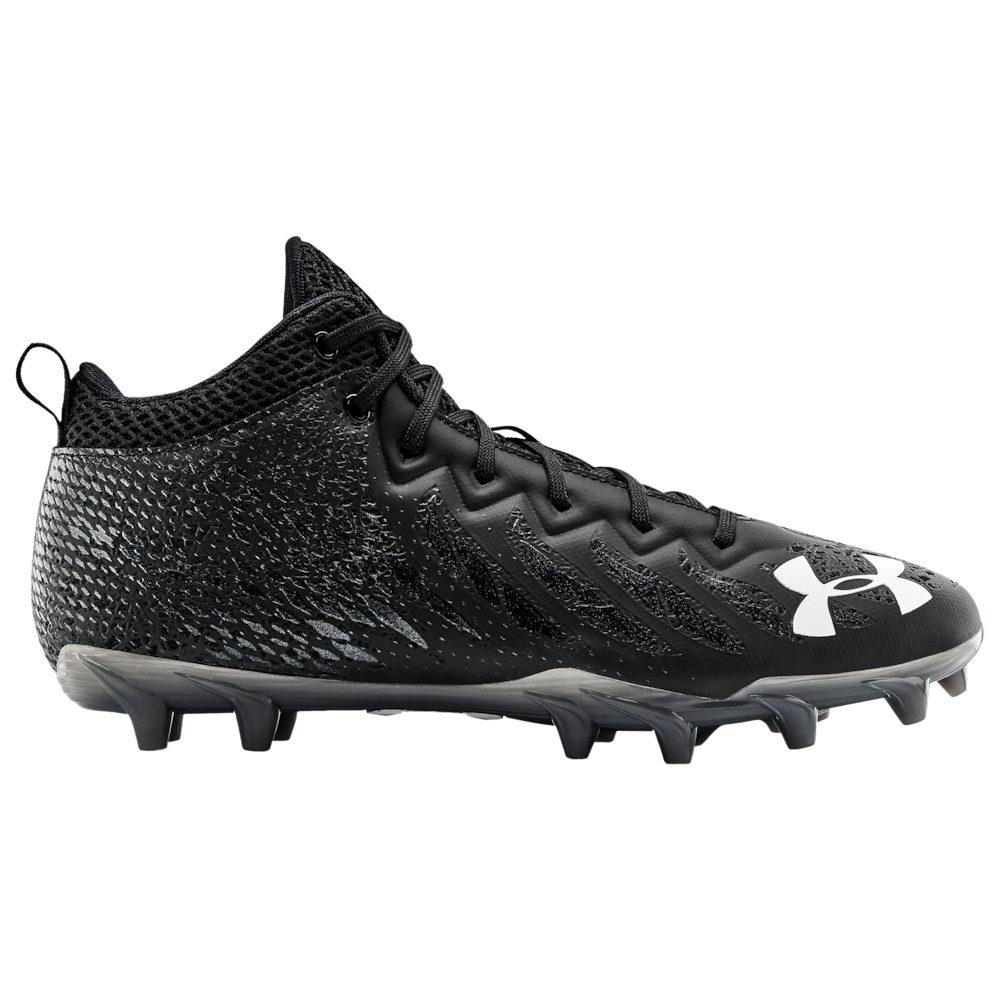 アンダーアーマー Under Armour メンズ アメリカンフットボール シューズ・靴【Spotlight Select Mid MC】Black/Black/White