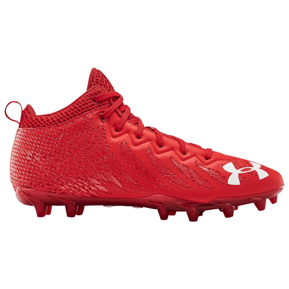 アンダーアーマー Under Armour メンズ アメリカンフットボール シューズ・靴【Spotlight Select Mid MC】Red/Red/White