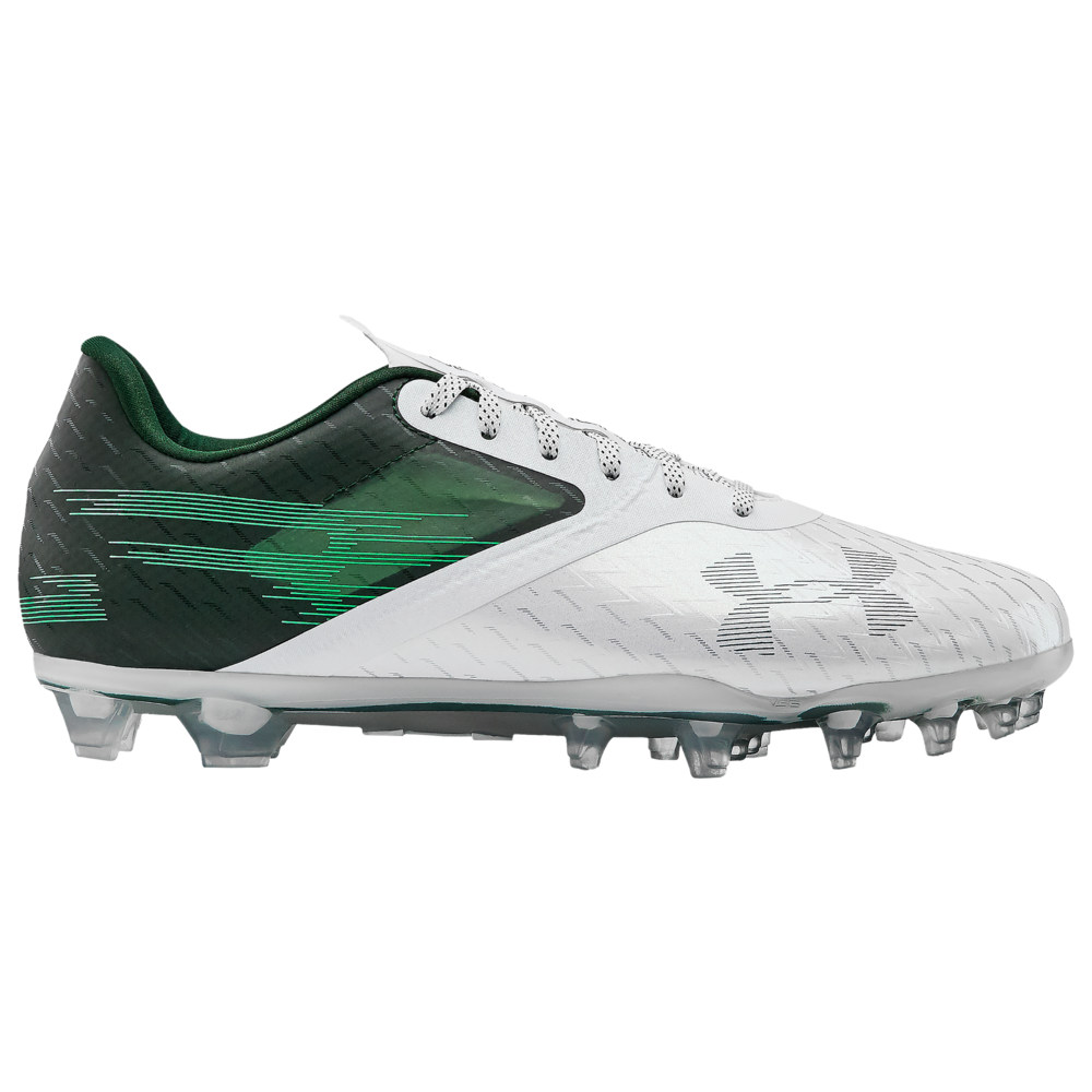 アンダーアーマー Under Armour メンズ アメリカンフットボール シューズ・靴【BLUR LUX MC】Forest Green/White/Forest Green