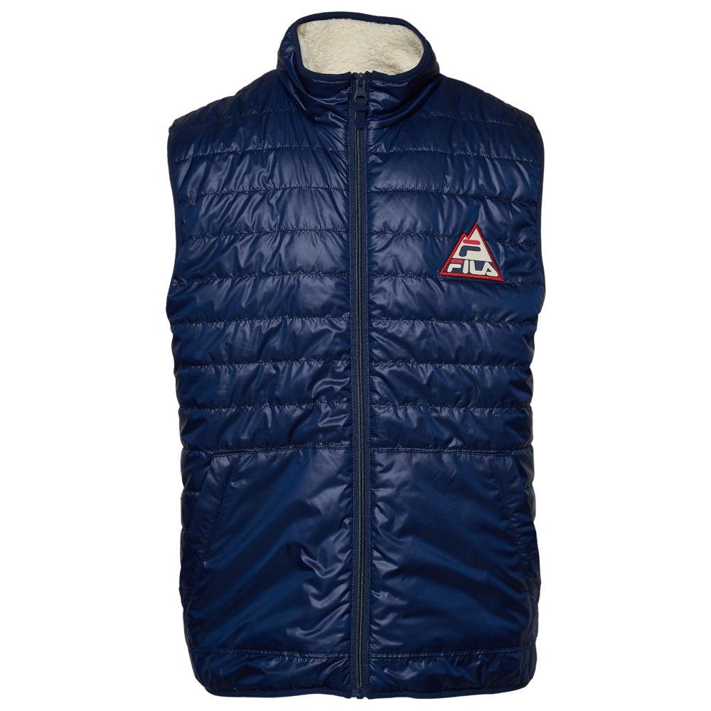 フィラ Fila メンズ ベスト・ジレ トップス【Way Point Sherpa Lined Vest】Peacoat/Winter White