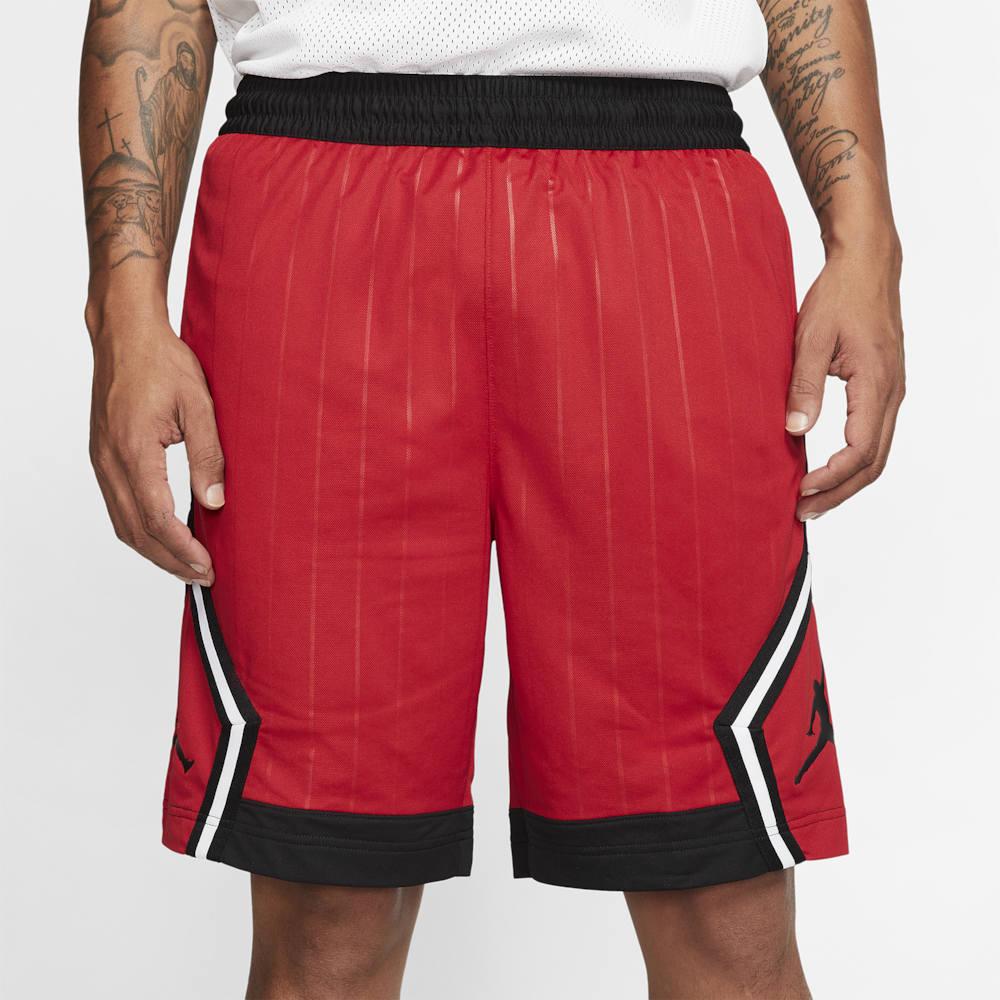 ナイキ ジョーダン Jordan メンズ バスケットボール ショートパンツ ボトムス・パンツ【Diamond Striped Shorts】Gym Red/Black
