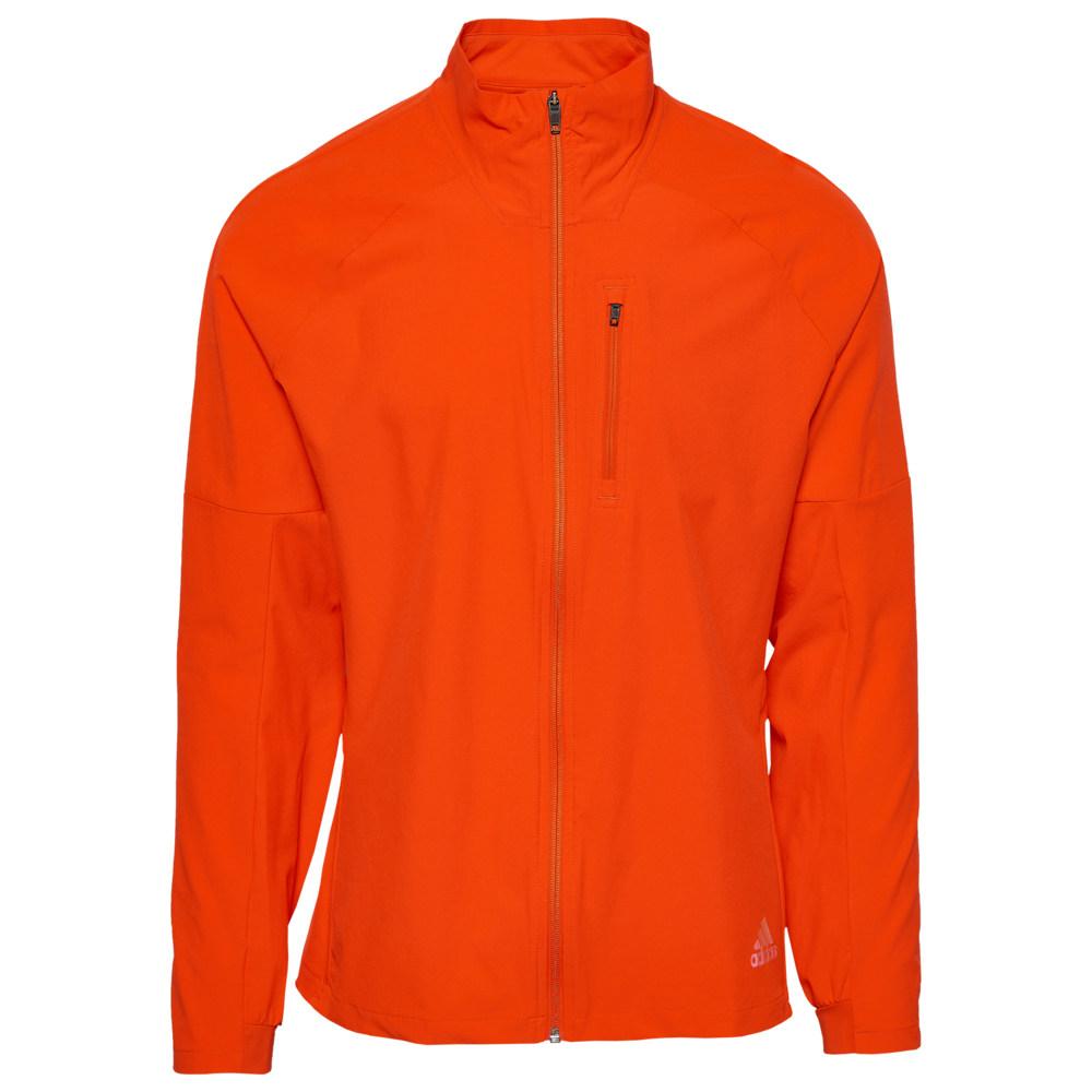 アディダス adidas メンズ ランニング・ウォーキング ジャケット アウター【Rise Up N Run Jacket】Active Orange