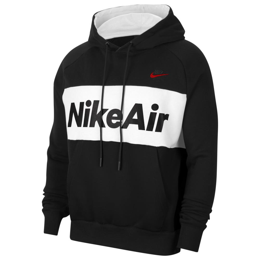 ナイキ Nike メンズ フリース トップス【Air Fleece Hoodie】Black/White/Black/University Red