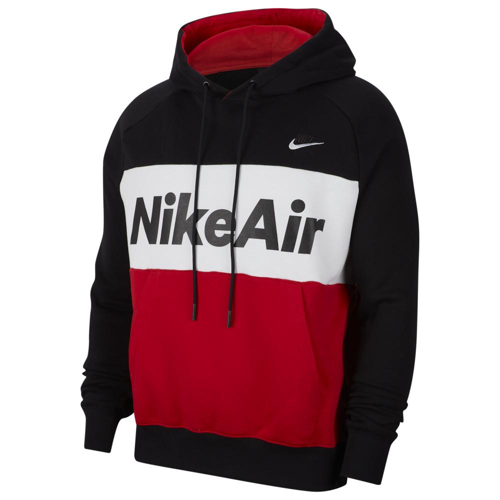 ナイキ Nike メンズ フリース トップス【Air Fleece Hoodie】Black/White/University Red/White