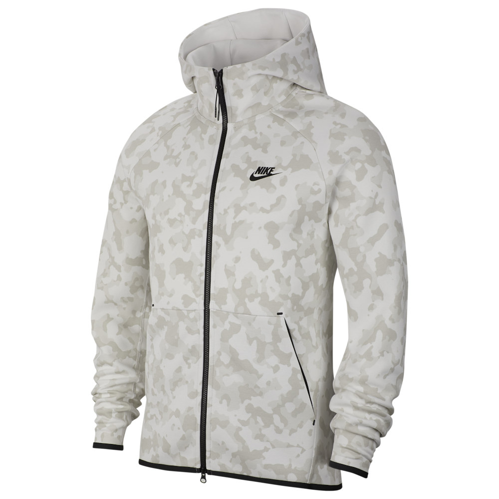 ナイキ Nike メンズ フリース トップス【Tech Fleece AOP Camo Full-Zip Hoodie】Summit White/Black