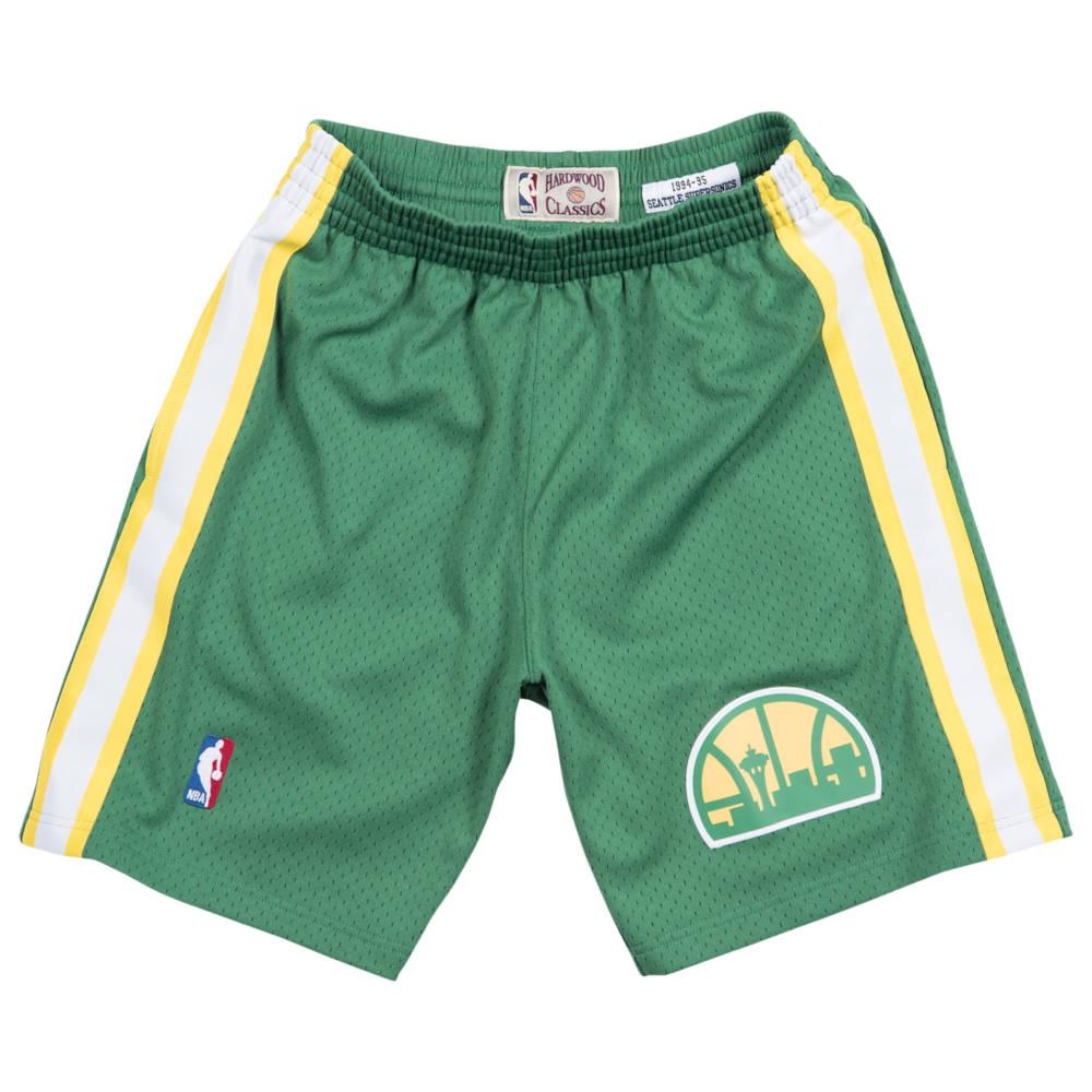 ミッチェル&ネス Mitchell & Ness メンズ バスケットボール ショートパンツ ボトムス・パンツ【NBA Swingman Shorts】NBA/Seattle Supersonics/Green/1994 to 1995
