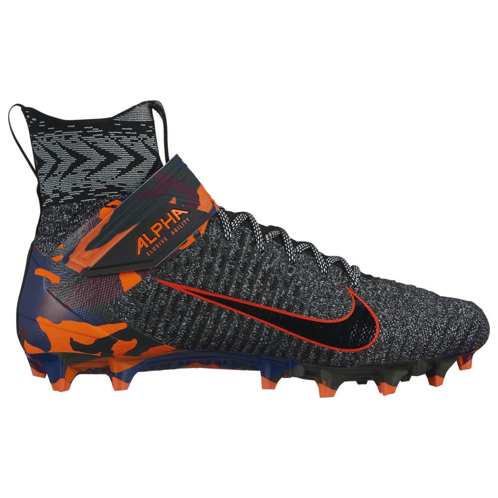 ナイキ Nike メンズ アメリカンフットボール シューズ・靴【Alpha Menace Elite 2】Black/Black/Total Orange