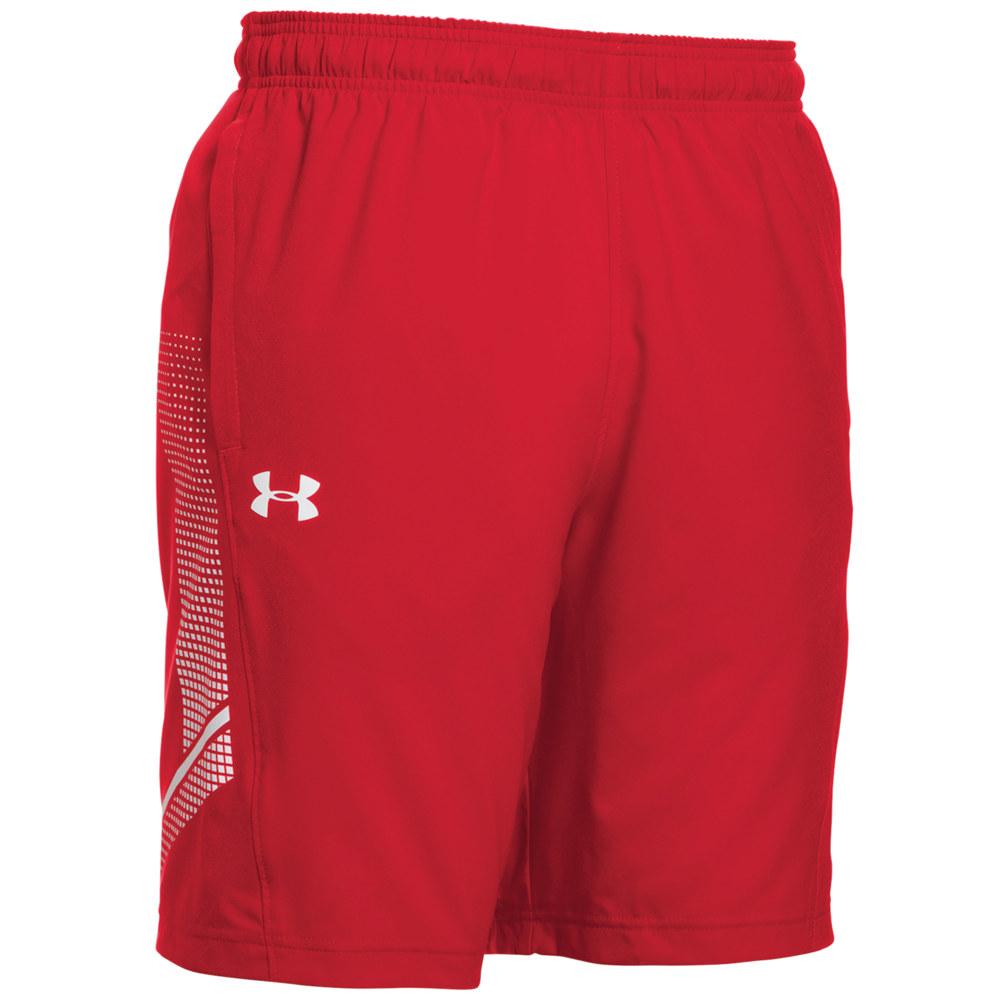 アンダーアーマー Under Armour メンズ フィットネス・トレーニング ショートパンツ ボトムス・パンツ【Team Woven Training Shorts】Red/White