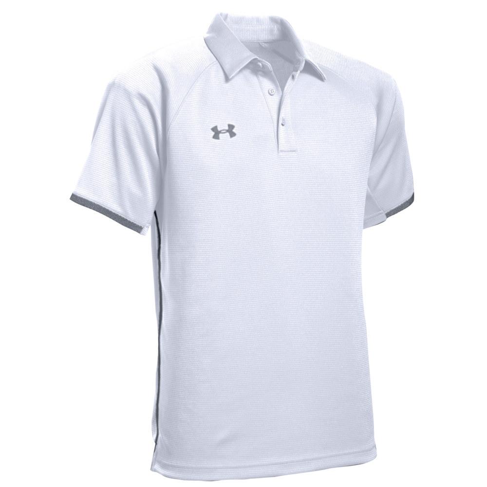 アンダーアーマー Under Armour メンズ ポロシャツ トップス【Team Rival Polo】White/Graphite