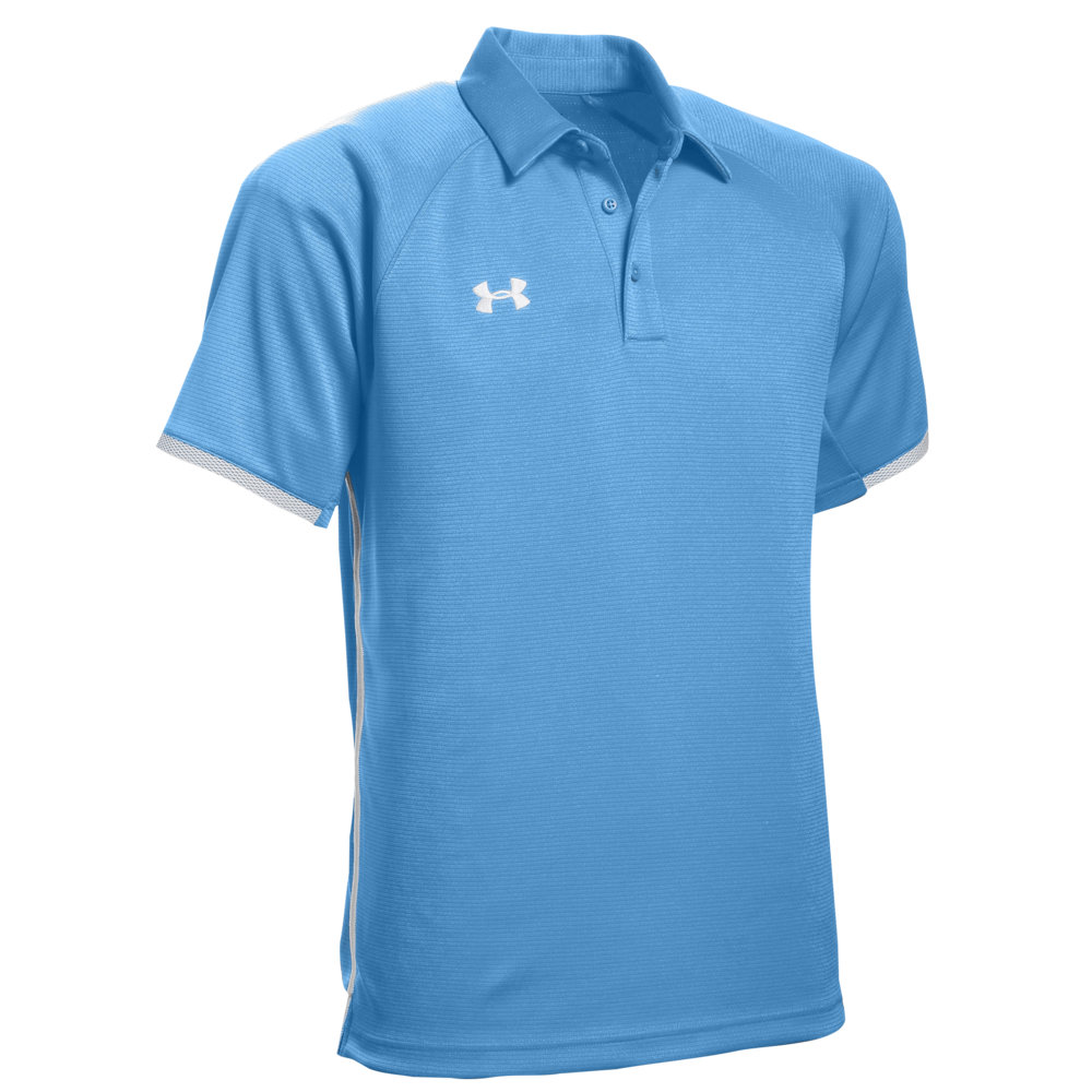 アンダーアーマー Under Armour メンズ ポロシャツ トップス【Team Rival Polo】Carolina Blue/White
