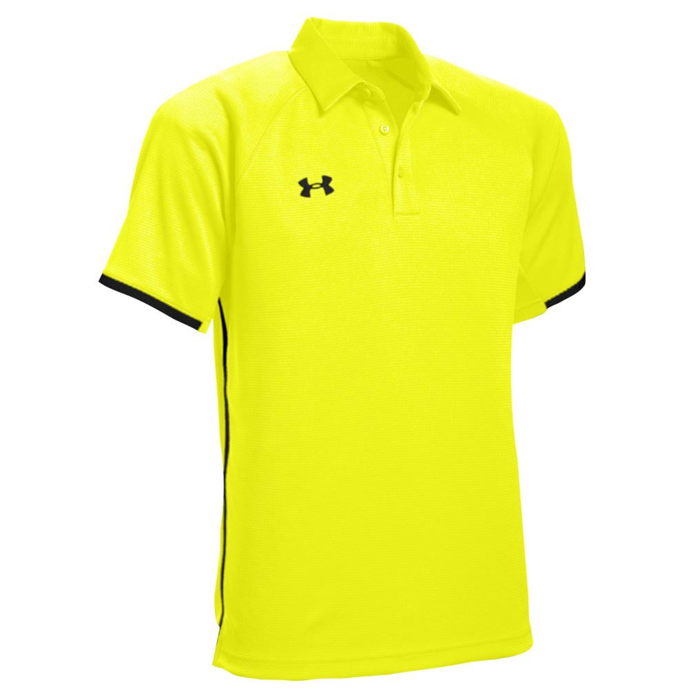 アンダーアーマー Under Armour メンズ ポロシャツ トップス【Team Rival Polo】High-Vis Yellow/Black