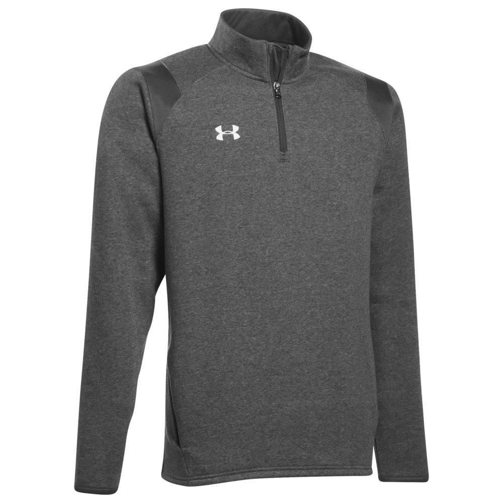 アンダーアーマー Under Armour メンズ フリース トップス【Team Hustle 1/4 Zip Fleece】Carbon Heather/Black