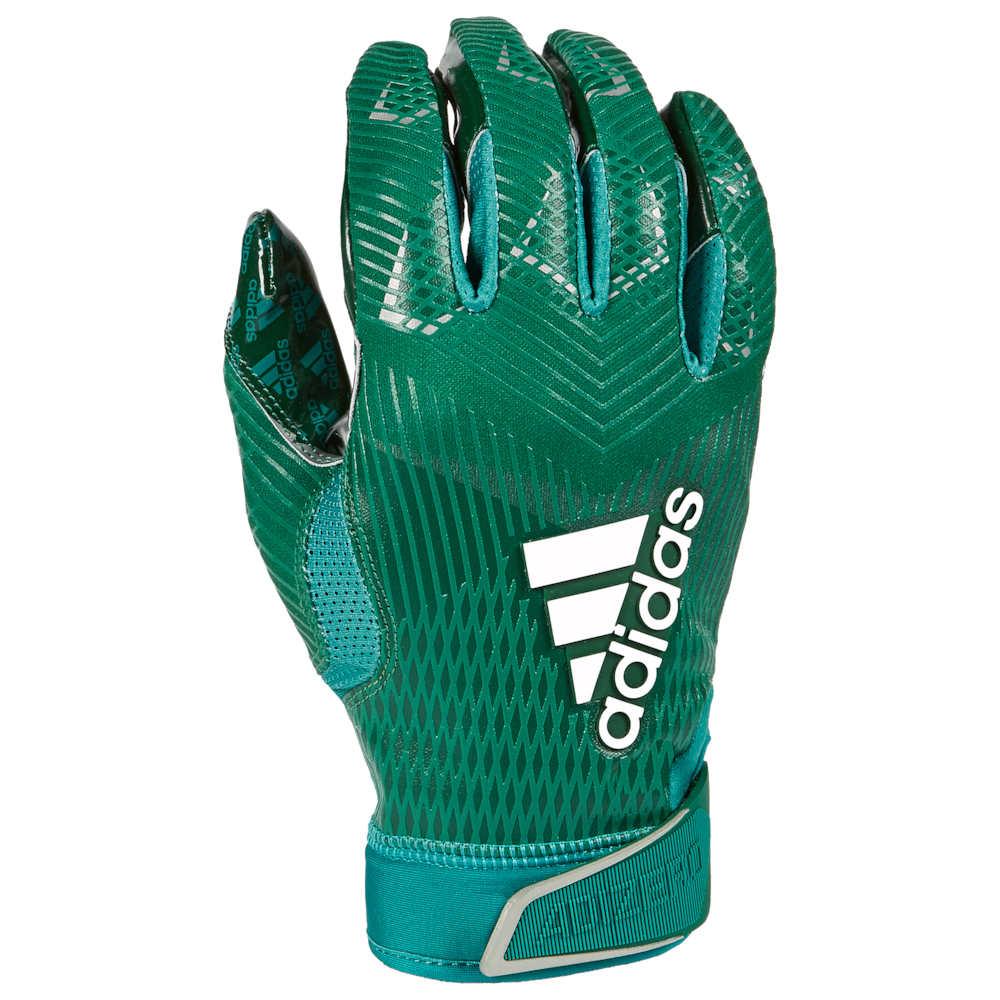 アディダス adidas メンズ アメリカンフットボール レシーバーグローブ グローブ【adiZero 5-Star 8.0 Receiver Glove】Forest Green/Metallic Silver