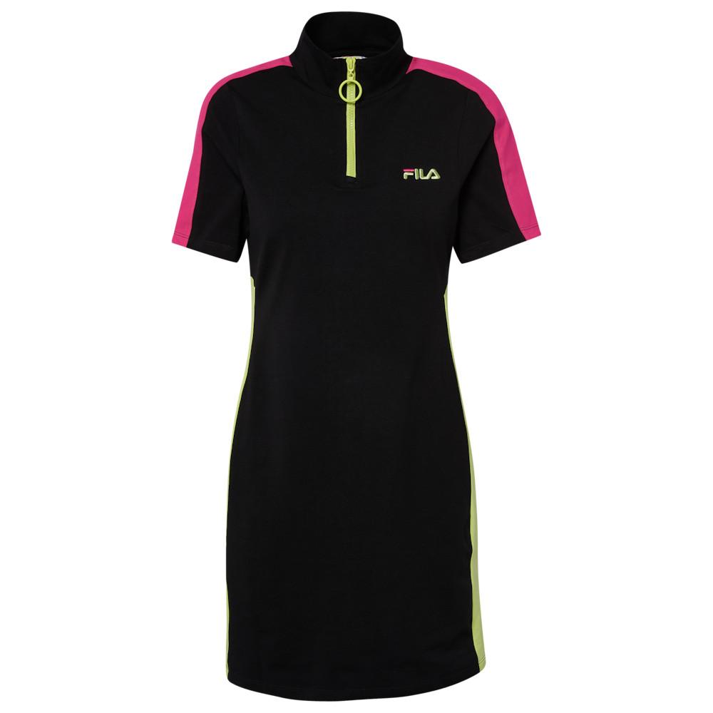 フィラ Fila レディース ワンピース ワンピース・ドレス【Lucrecia Dress】Black/Sharp Green/Fushia Purple