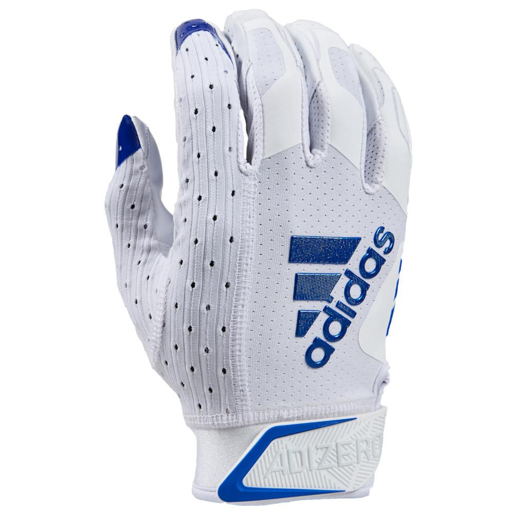 アディダス adidas メンズ アメリカンフットボール レシーバーグローブ グローブ【adiZero 9.0 Receiver Gloves】White/Royal