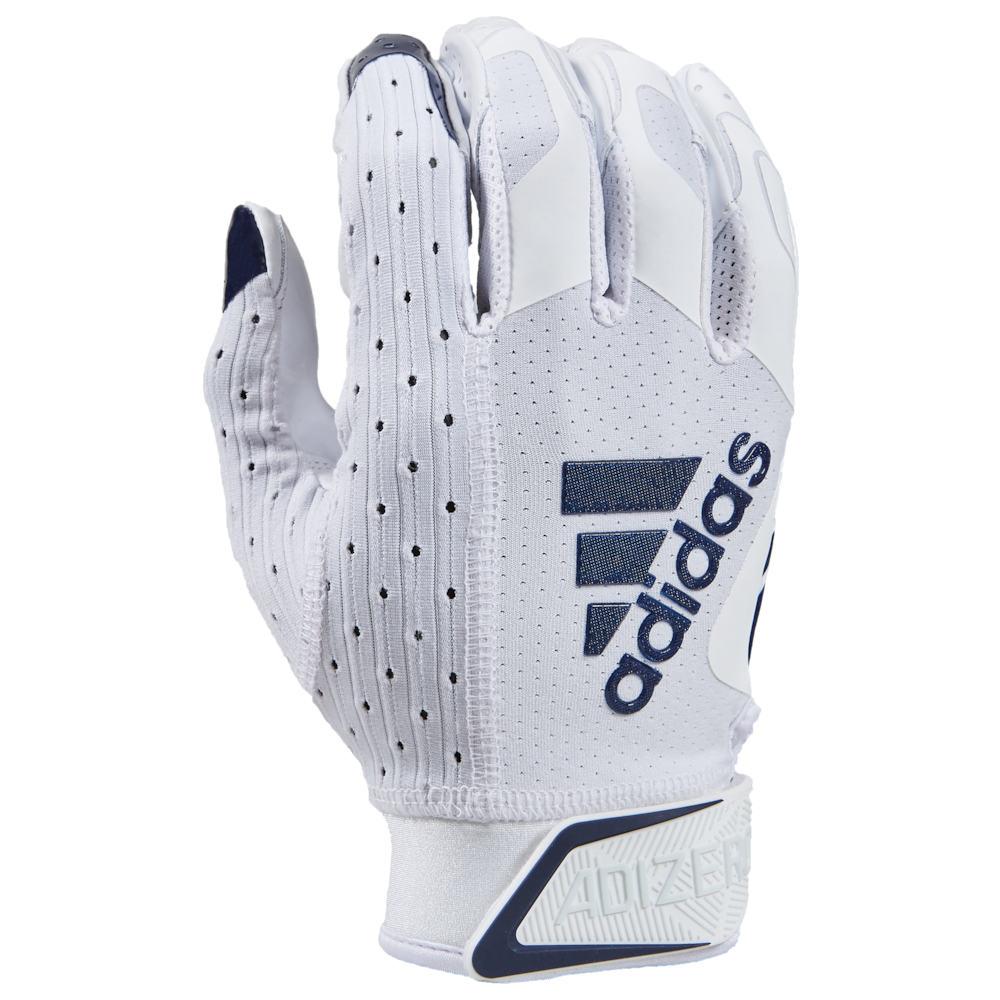 アディダス adidas メンズ アメリカンフットボール レシーバーグローブ グローブ【adiZero 9.0 Receiver Gloves】White/Navy