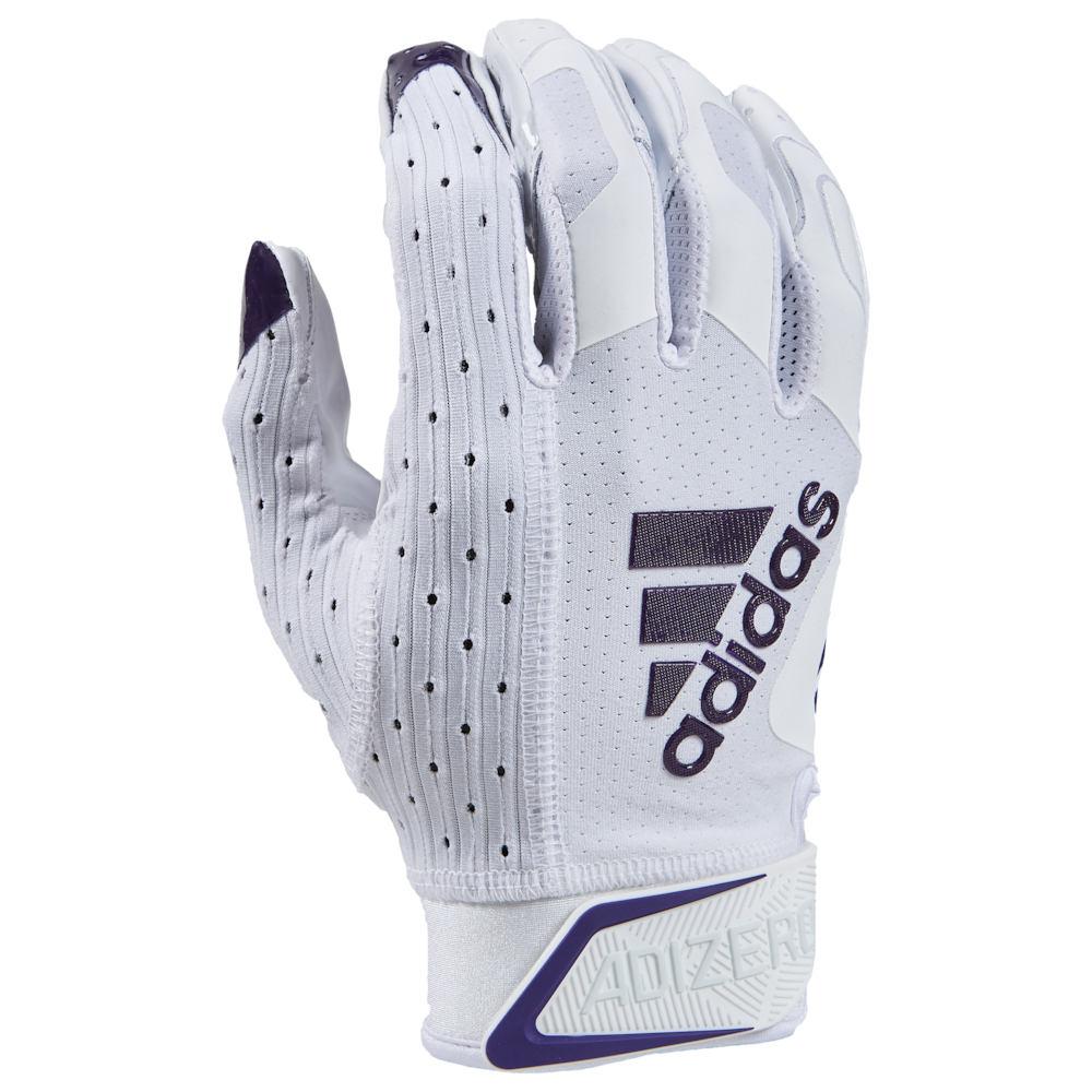 アディダス adidas メンズ アメリカンフットボール レシーバーグローブ グローブ【adiZero 9.0 Receiver Gloves】White/Purple